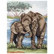 Elephants - Anchor Cross Stitch Kit