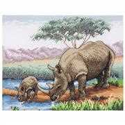 Rhinos - Anchor Cross Stitch Kit