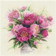 RIOLIS Peonies in a Vase Craft Kit