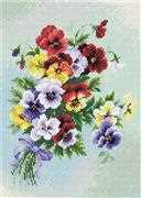 RIOLIS Pansy Medley Craft Kit