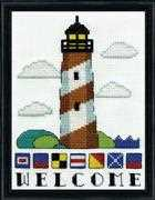 Design Works Crafts Lighthouse Welcome Cross Stitch Kit