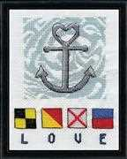 Love Anchor - Design Works Crafts Cross Stitch Kit