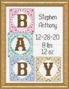 Design Works Crafts Baby Blocks Birth Sampler Cross Stitch Kit