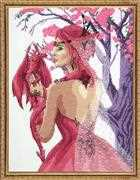 Janlynn Dragon Princess Cross Stitch Kit
