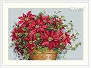 Merejka Poinsettia Christmas Cross Stitch Kit