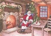 Heritage Santa's Job Done - Aida Christmas Cross Stitch Kit