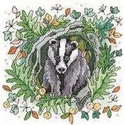 Heritage Badger - Aida Cross Stitch Kit