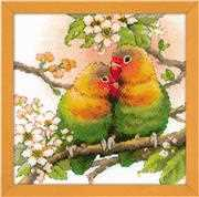 RIOLIS Lovebirds Cross Stitch Kit