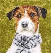 Lanarte Terrier Dog Cross Stitch Kit