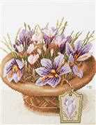 Lanarte Crocus Flowers Cross Stitch Kit