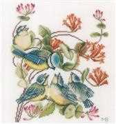 Lanarte Chickadees Cross Stitch Kit