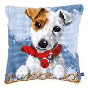 Vervaco Jack Russell Cushion Cross Stitch Kit