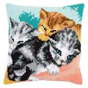 Cute Kittens Cushion - Vervaco Cross Stitch Kit