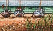 Permin Boats Cross Stitch Kit