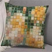 Permin Pixel Cushion - Green Cross Stitch Kit