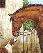 Hunter and Foxhound - Luca-S Cross Stitch Kit
