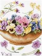 Violets - Lanarte Cross Stitch Kit