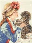 Lanarte Girl and Dog Cross Stitch Kit