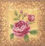 Lanarte Roses Cross Stitch Kit