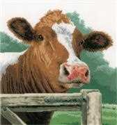 Lanarte Wondering Cow - Aida Cross Stitch Kit