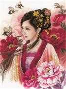 Lanarte Asian Lady in Pink Cross Stitch Kit