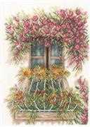Lanarte Flower Balcony Cross Stitch Kit