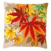 Autumn Leaves Cushion - Vervaco Cross Stitch Kit