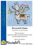 Mouseloft Decorated Llama Cross Stitch Kit