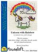 Mouseloft Unicorn with Rainbow Cross Stitch Kit