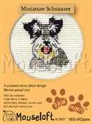 Mouseloft Miniature Schnauzer Cross Stitch Kit