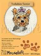 Mouseloft Yorkshire Terrier Cross Stitch Kit