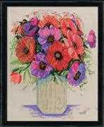 Anemones - Design Works Crafts Cross Stitch Kit