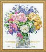 Design Works Crafts Pastel Floral Cross Stitch Kit