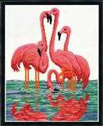 Flamingos - Design Works Crafts Cross Stitch Kit