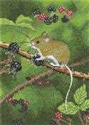 Wood Mouse - Evenweave - Heritage Cross Stitch Kit