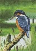 Kingfisher - Aida - Heritage Cross Stitch Kit