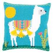 Llama Cushion - Vervaco Cross Stitch Kit