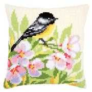 Vervaco Bird and Blossom Cushion Cross Stitch Kit