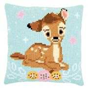 Bambi Cushion - Vervaco Cross Stitch Kit