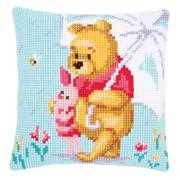 Winnie in the Rain Cushion - Vervaco Cross Stitch Kit