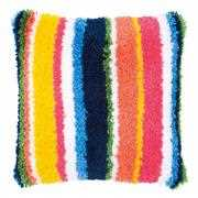 Bright Stripes Cushion with Back - Vervaco Latch Hook Kit