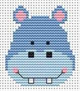 Fat Cat Sew Simple Hippo Cross Stitch Kit