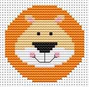 Sew Simple Lion - Fat Cat Cross Stitch Kit
