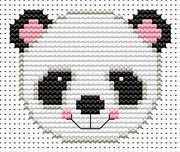 Fat Cat Sew Simple Panda Cross Stitch Kit