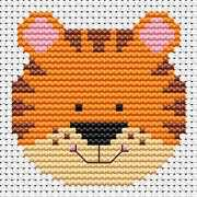 Sew Simple Tiger - Fat Cat Cross Stitch Kit