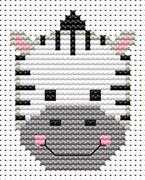 Sew Simple Zebra - Fat Cat Cross Stitch Kit