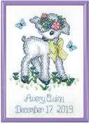 Janlynn Lamb Sampler Birth Sampler Cross Stitch Kit