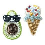 VDV Avocado and Ice Cream Brooches Craft Kit