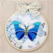 VDV Blue Butterfly Embroidery Kit