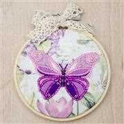 VDV Pink Butterfly Embroidery Kit